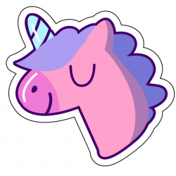 Sticker Happy Unicorn
