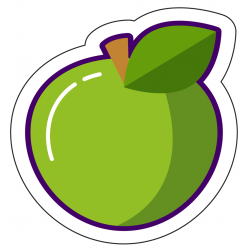 Sticker Big Green Apple